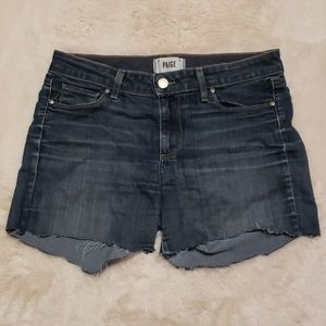 Paige Skyline Skinny Dark Wash Shorts sz 30
